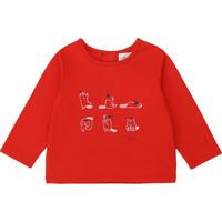 Oblečenie Dievčatá Tričká s dlhým rukávom Carrément Beau Y95252 Červená