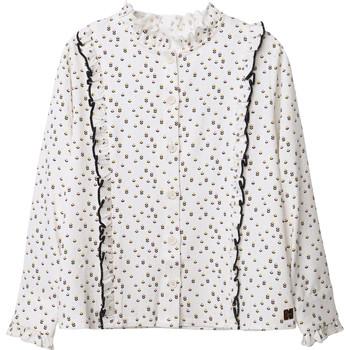 Oblečenie Dievčatá Blúzky Carrément Beau Y15356 Biela
