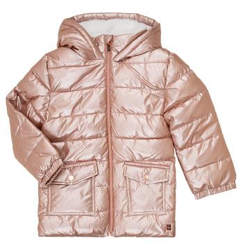 Oblečenie Dievčatá Vyteplené bundy Carrément Beau Y16085 Ružová