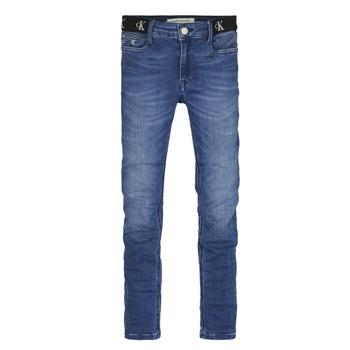 Oblečenie Dievčatá Rifle Skinny  Calvin Klein Jeans IG0IG00639-1A4 Modrá