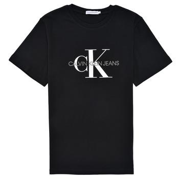 Oblečenie Deti Tričká s krátkym rukávom Calvin Klein Jeans MONOGRAM Čierna