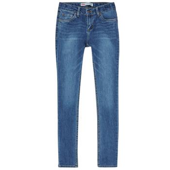 Oblečenie Chlapci Rifle Skinny  Levi's SKINNY TAPER JEANS Modrá