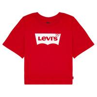 Oblečenie Dievčatá Tričká s krátkym rukávom Levi's LIGHT BRIGHT CROPPED TEE Červená