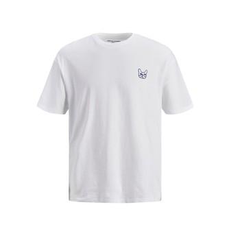 Oblečenie Chlapci Tričká s krátkym rukávom Jack & Jones JJAARHUS TEE Biela