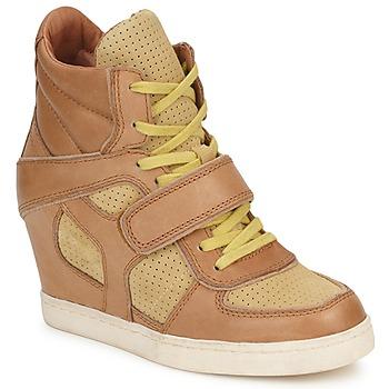 Topánky Ženy Členkové tenisky Ash COCA Hnedá / žltá