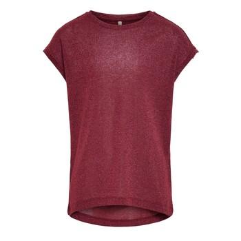 Oblečenie Dievčatá Tričká s krátkym rukávom Only KONSILVERY Bordová