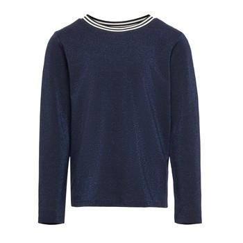 Oblečenie Dievčatá Tričká s dlhým rukávom Only KONATHEA Námornícka modrá