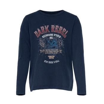 Oblečenie Dievčatá Tričká s krátkym rukávom Only KONLUCY LIFE Námornícka modrá