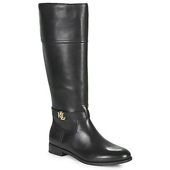 Topánky Ženy Čižmy do mesta Lauren Ralph Lauren BAYLEE Čierna