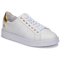 Topánky Ženy Nízke tenisky Lauren Ralph Lauren ANGELINE II Biela / Zlatá