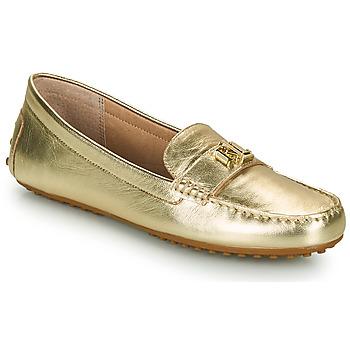 Topánky Ženy Mokasíny Lauren Ralph Lauren BARNSBURY FLATS CASUAL Zlatá