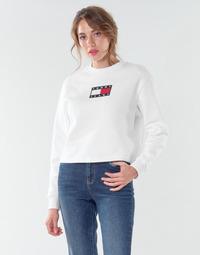 Oblečenie Ženy Mikiny Tommy Jeans TJW TOMMY FLAG CREW Biela
