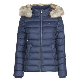 Oblečenie Ženy Vyteplené bundy Tommy Jeans TJW BASIC HOODED DOWN JACKET Námornícka modrá
