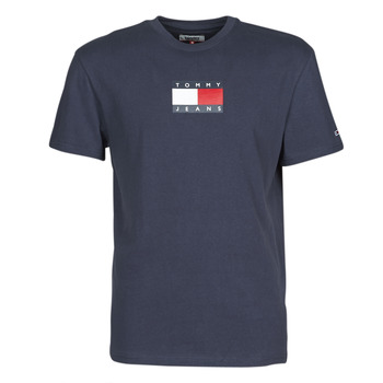 Oblečenie Muži Tričká s krátkym rukávom Tommy Jeans TJM SMALL FLAG TEE Námornícka modrá