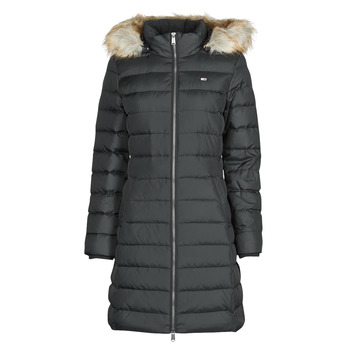 Oblečenie Ženy Vyteplené bundy Tommy Jeans TJW ESSENTIAL HOODED DOWN COAT Čierna