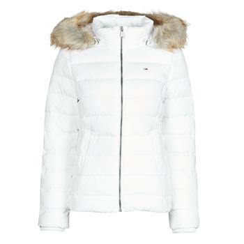 Oblečenie Ženy Vyteplené bundy Tommy Jeans TJW BASIC HOODED DOWN JACKET Biela