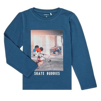 Oblečenie Chlapci Tričká s dlhým rukávom Name it NMMMICKEY EMIL Námornícka modrá
