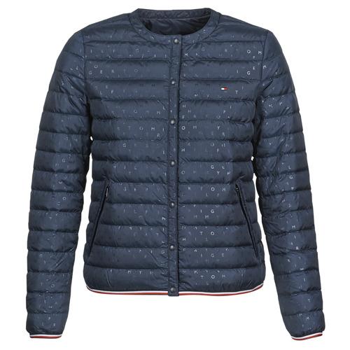 Oblečenie Ženy Vyteplené bundy Tommy Hilfiger BELLA COLLARLESS LW DWN REV JKT Námornícka modrá