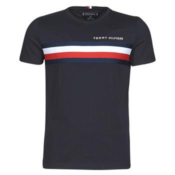 Oblečenie Muži Tričká s krátkym rukávom Tommy Hilfiger GLOBAL STRIPE TEE Námornícka modrá