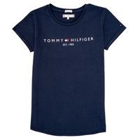 Oblečenie Dievčatá Tričká s krátkym rukávom Tommy Hilfiger KG0KG05242-C87 Námornícka modrá