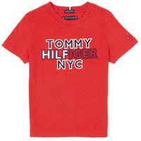 Oblečenie Chlapci Tričká s krátkym rukávom Tommy Hilfiger KB0KB05848-XNL Červená