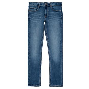 Oblečenie Chlapci Rifle Slim  Tommy Hilfiger SCANTON SLIM Modrá