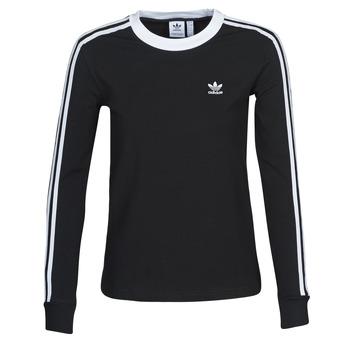 Oblečenie Ženy Tričká s dlhým rukávom adidas Originals 3 STR LS Čierna