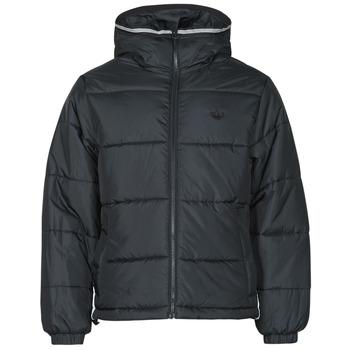 Oblečenie Muži Vyteplené bundy adidas Originals PAD HOODED PUFF Čierna