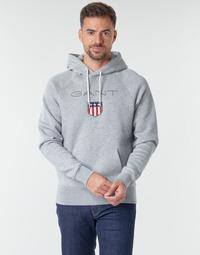 Oblečenie Muži Mikiny Gant GANT SHIEL HOODIE Šedá