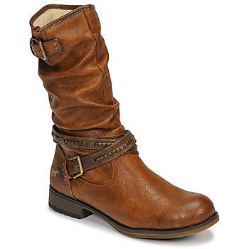 Topánky Ženy Čižmy do mesta Mustang 1139624 Koňaková