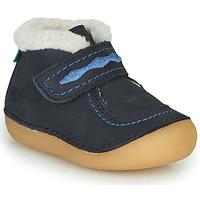 Topánky Dievčatá Polokozačky Kickers SOETNIC Námornícka modrá
