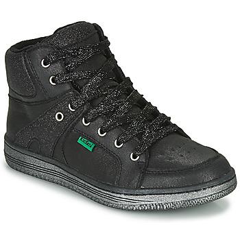 Topánky Dievčatá Členkové tenisky Kickers LOWELL Čierna