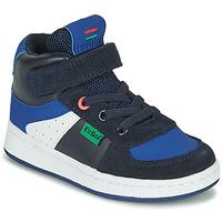 Topánky Chlapci Členkové tenisky Kickers BILBON MID Námornícka modrá