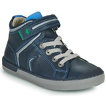 Topánky Chlapci Členkové tenisky Kickers IRELAS Námornícka modrá / Modrá