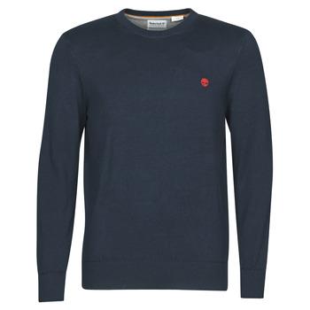 Oblečenie Muži Svetre Timberland WILLIAMS RIVER CREW Námornícka modrá