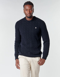 Oblečenie Muži Svetre Timberland LAMBWOOL CABLE Námornícka modrá