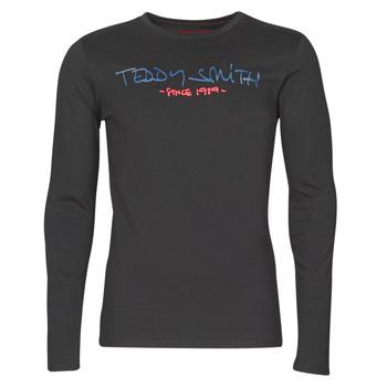 Oblečenie Muži Tričká s dlhým rukávom Teddy Smith TICLASS BASIC M Čierna