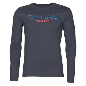 Oblečenie Muži Tričká s dlhým rukávom Teddy Smith TICLASS BASIC M Námornícka modrá