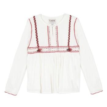 Oblečenie Dievčatá Blúzky Chipie 8R12014-19 Biela