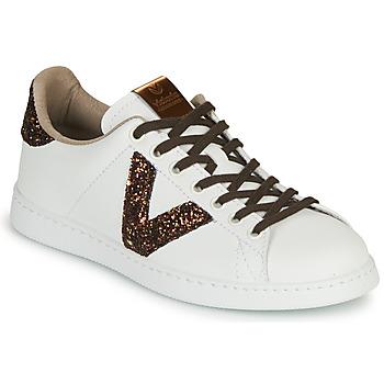 Topánky Ženy Nízke tenisky Victoria TENIS PIEL VEG Biela / Hnedá