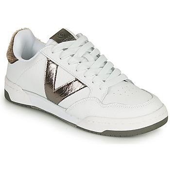 Topánky Ženy Nízke tenisky Victoria CRONO PIEL Biela / Bronzová