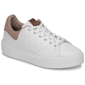 Topánky Ženy Nízke tenisky Victoria UTOPÍA PIEL VEG Biela / Ružová