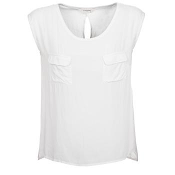 Oblečenie Ženy Tielka a tričká bez rukávov Naf Naf KLOPA Krémová