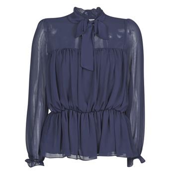 Oblečenie Ženy Blúzky Naf Naf HAZUL C1 Námornícka modrá