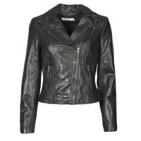Oblečenie Ženy Kožené bundy a syntetické bundy Naf Naf CAMILLA Čierna