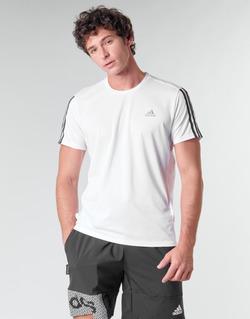 Oblečenie Muži Tričká s krátkym rukávom adidas Performance RUN IT TEE 3S M Biela