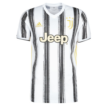 Oblečenie Tričká s krátkym rukávom adidas Performance JUVE H JSY Biela / Čierna