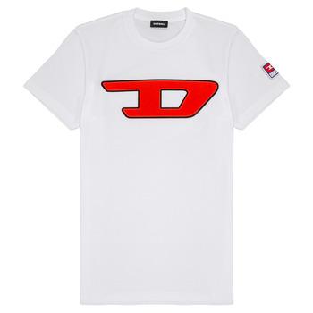 Oblečenie Deti Tričká s krátkym rukávom Diesel TJUSTDIVISION Biela