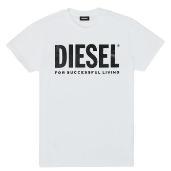 Oblečenie Deti Tričká s krátkym rukávom Diesel TJUSTLOGO Biela