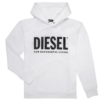 Oblečenie Chlapci Mikiny Diesel SDIVISION LOGO Biela